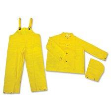 (MCR Safety Rainsuit, 3 Piece, XX-Large, Yellow)