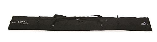 High Sierra Double Nordic Ski Bag Ski Bag, Black (Black Ski Bag)