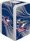 Boelter Brands NHL Columbus Blue Jackets Portable Party Fridge, 15 Quarts
