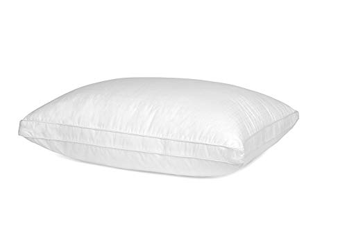 Mastertex Down Alternative Bed Pillow Cotton Cover Super Plush Microfiber Fill Hypoallergenic &...
