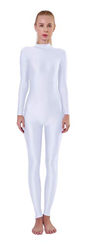 Kepblom Womens Turtleneck Long Sleeve Dance Unitard One Piece Full Bodysuit Costumes