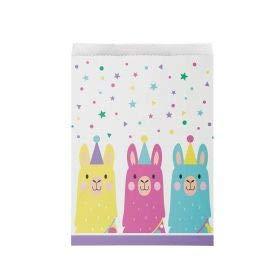Llama Party Paper Treat Bags, 10