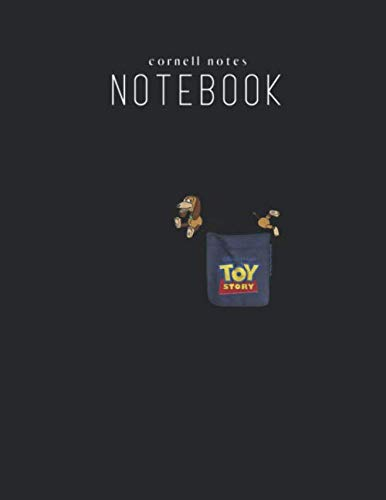 Corell Note Notebook: Disney Pixar Toy Story Slinky Dog Pocket Graphic Cornell Composition Marble Size 8.5in x 11in Writing and Taking Note ... Student Teacher Men Women Work Class Home Use