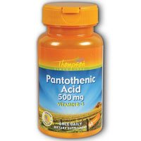 THOMPSON NUTRITIONAL PRODUCTS Pantothenic Acid 500mg 60