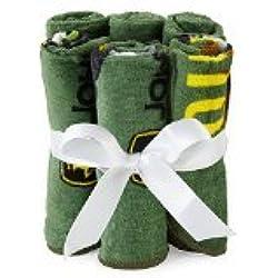 John Deere 6 Piece Washcloth Set