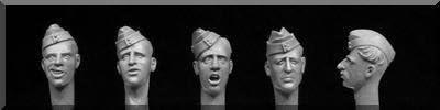 HBH//15-5 heads wearing British sidecaps WW2