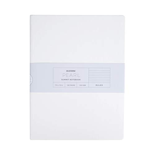 - Blackwing Pearl Summit Journal, Pearl White Hardcover Ruled Notebook, 160 Pg