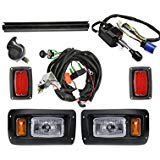 (CLUB CAR DS Deluxe Light Kit--------------Halogen Headlight/LED Taillight with turn signal switch and horn)