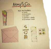 Mary /& Co Card Making Kit 4 Pack with Cards Address Labels /& Envelope Seals by Mary /& Co. Stickers Envelopes