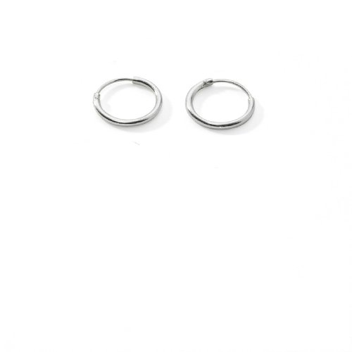 Silverline Jewelry Sterling Endless Hoop Earrings for Cartilage, Nose and Lips, 3/8