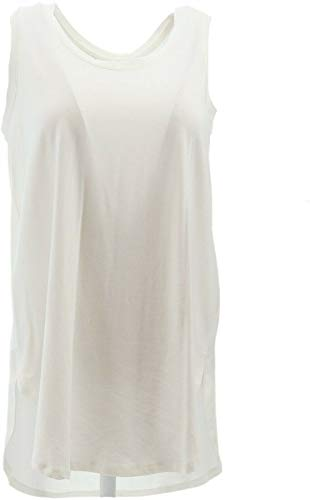 AnyBody Loungewear Cozy Knit Side Split Tank Top White L New A306950 from AnyBody