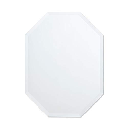 Octagon Mirror | Frameless Beveled Mirror | Bathroom, Vanity, Bedroom Mirror (24-inch x 32-inch)]()