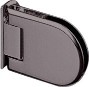 CRL Berlin 044 Series Oil Rub Bronze Wall Mount Offset Back Plate Hinge