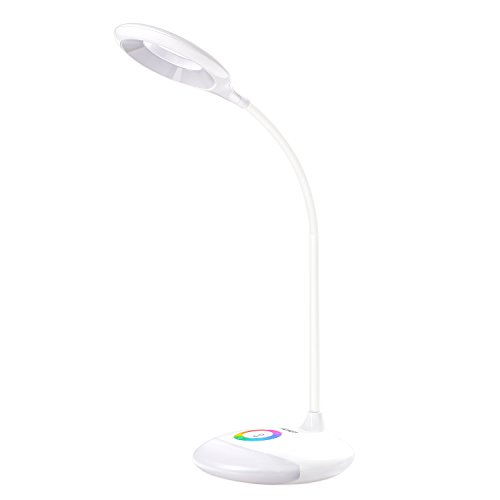 Price comparison product image AUKEY Rechargeable Desk Lamp,  LED Table Lamp with Dimmable RGB Base Light and Touch Panel for Home & Office