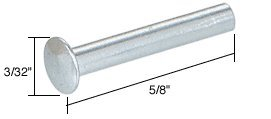 C.R. LAURENCE FS261 CRL Window Channel Balance Guide Rivet - 100/Pk Aluminium Window