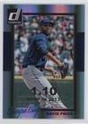 David Price #36/110 (Baseball Card) 2014 Panini Donruss - [Base] - Silver Season Stat Line #344