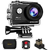 Apexcam 4K Action Camera 16MP 4X Zoom Underwater Waterproof Camera 40M 170°Wide-Angle WiFi Sports Camera with 2.4G Remote Control with 2 Batteries 2.0'' LCD Ultra HD and Mounting Accessories Kit Apexcam