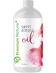 Sweet Almond Oil Best Carrier Oil - 32 oz 100% Natural Pure for Skin & Hair - Cleansing Properties Evens Skin Tone Treats...