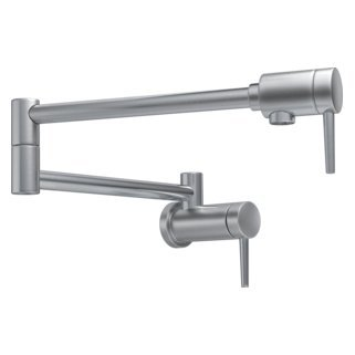 Delta Faucet 1165LF-AR Pot Filler Faucet - Wall Mount, Arctic Stainless from DELTA FAUCET