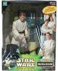 2000 - Hasbro - Star Wars - Power of The Jedi - Mega Action - OBI-Wan Kenobi - 6 Inch Action Figure - Battel Moves Lightsaber - New - Out of Production - Limited Edition - Collectible