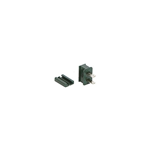Green Male Quick Zip Plug For SPT-2 18 Gauge Wire 8 Amps