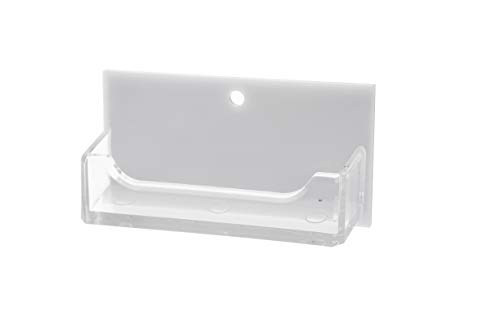 (Marketing Holders Wall Business Card Holder Rack Display Premium Acrylic White Back Clear Pocket Qty 1)