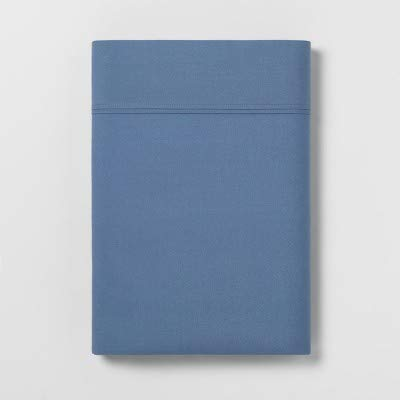 (3-Pack) Ultra Soft Flat Sheet (Twin Extra Large) Blue 300 Thread Count by Threshold (Image #1)
