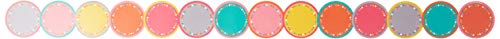 Teacher Created Resources Tropical Punch Circles Die-Cut Border Trim