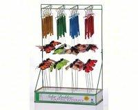 Russco III RCAP127396 Solar Buddies Mini Wind Chime & Plant Pick Assortment 40 pcs