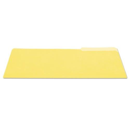(Universal 10524 File Folders, 1/3 Cut One-Ply Top Tab, Legal, Yellow/Light Yellow, 100/Box)