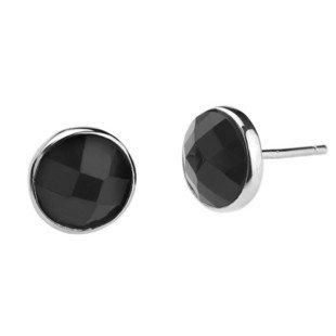 76a5bd1e8 Sterling Silver Black Onyx Round Stud Earrings 7mmx7mm, Great For men,  women, unisex: Amazon.co.uk: Jewellery