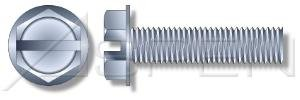(1000 pcs) 1/4'-20 X 3' Machine Screws, Hex Indented Washer, Slotted, Steel, Zinc, Ships FREE in USA by Aspen Fasteners