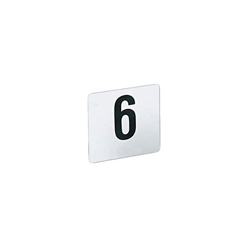 American-Metalcraft-425-Heavy-White-Plastic-1-25-Table-Number-Cards