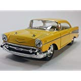 Kinsmart Canary Yellow 1957 Chevy Bel Air 2 Door Coupe 1/40 Scale Diecast Car by Kinsmart ()