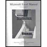 Microsoft Excel Manual Elementary Statistics: a Step-By-Step Approach, Bluman, Allan, 0073331228