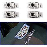 AMINEY 4 Pcs Door Welcome Lights Ghost Shadow Logo Light Led Door Projectors For Cadillac, New Logo, Easy ()