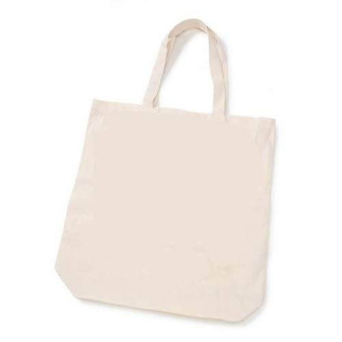 Darice AX-AY-ABHI-57620 770352761637 Bulk Buy DIY Crafts Eco Tote 100% Cotton 15 x 16 x 4 inches (20-Pack) 1180-50, 1, Natural