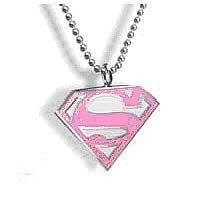 Price comparison product image Noble Collection - Superman pendentif avec chaînette Pink Logo