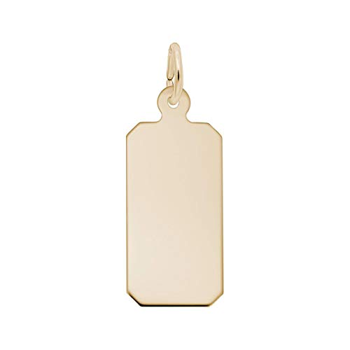 Yellow Gold Classic Dog Tag Charm by Rembrandt Charms (Image #1)
