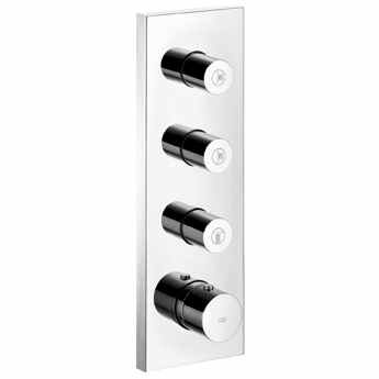 Hansgrohe 10751821 Axor Starck, Thermostatic Shower System Trim with 3 Volume Controls, Brushed (Hansgrohe Axor Starck Volume Control)