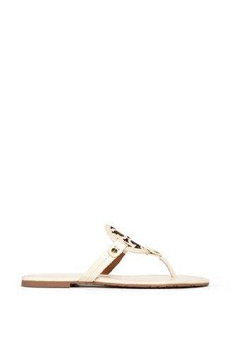 Tory Burch Miller Metallic Sandal Womens (7.5, Sand Patent)
