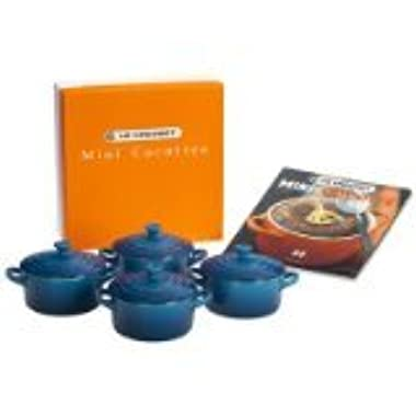 Le Creuset Set of 4 Mini Cocottes with Cookbook, Marseille