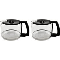 - Krups F0344210F-2PK Pro Aroma 10 Cup Glass Carafe, Black Handle, 2 pack
