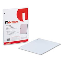 "Universal Mediumweight 16-lb. Filler Paper, 11 x 8-1/2, College 5/16"" Ruled, 200 Shts/pk"