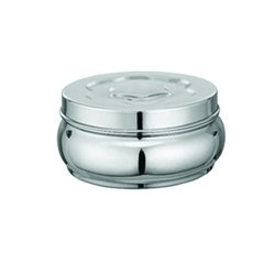 f1bca484f3c Image Unavailable. Image not available for. Colour  Stainless Steel Round Lunch  Box Tiffin ...