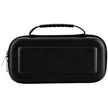 Carrying Case for Nintendo Switch with 10 Game Cart Slots Double Zipper Design,Soft Inner Protects Nintendo Switch Console Joy cons