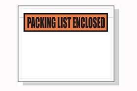 1 Case Four Star Plastics-5.5x10 Packing List Envelopes-1000//Case