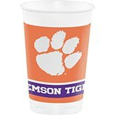 (96 NCAA Clemson University Tigers Plastic Drinking Tailgate Party Cups - 20 oz.)