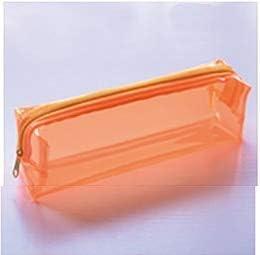 1 caja de plástico transparente para el colegio. Estuche para bolígrafo. Bolígrafo. Bolígrafo de pintura. Caja de regalo de papelería, color S orange: Amazon.es: Oficina y papelería