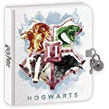 Playhouse Harry Potter Houses of Hogwarts Lock and Key Lined Page Diary for Kids ()